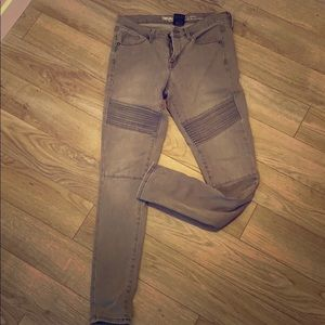 Gray Moto stretch jeans